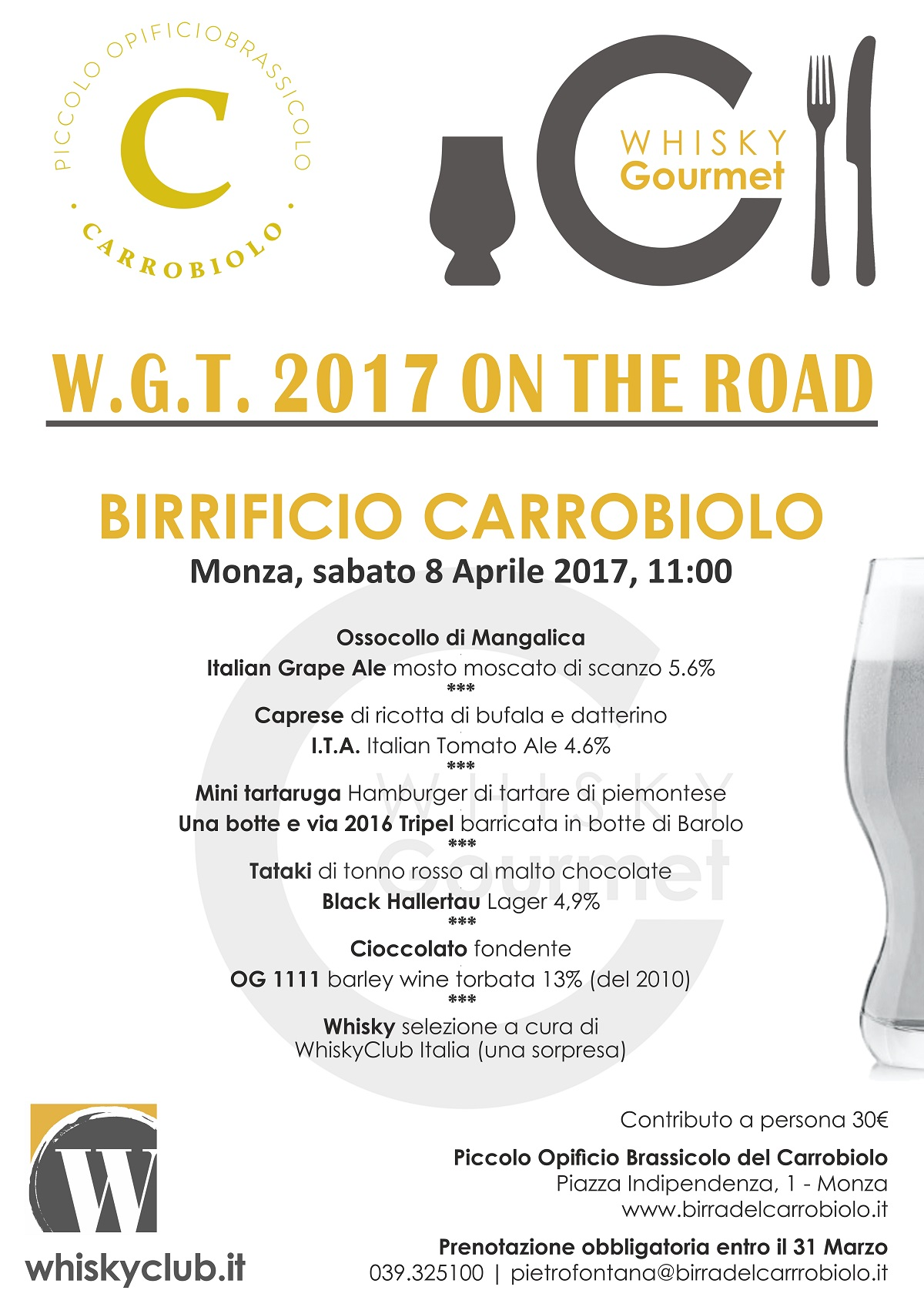 W.G.T.2017 ON THE ROAD - BIRRIFICIO CARROBIOLO